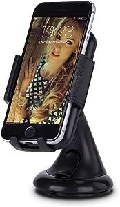 【UP UPKJ】スマホ車載ホルダー スタンド 360度回転可能 吸盤式 カーマウント 横縦幅調節可 iPhone 6S/6 plus/6/5S/5/5C/4S/4・Samsung・softbank・GPSカーナビなど対応 (ブラック)