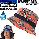 パタゴニア PATAGONIA パタゴニア ハット WAVEFARER BUCKET HAT HWCO HAWAIIAN FISH CUSCO ORANGE 撥水加工 DWR バケットハット PATAGONIA キャップ 帽子HWこ
