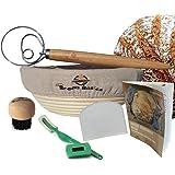 BreadBasics Banneton Proofing Basket | Premium Homemade Bread Starter Kit for Beginners | Includes Step by Step eBook, Bowl S