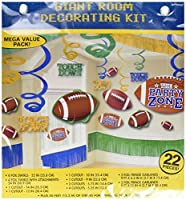 Amscan Football Giant Birthday Party Assorted Room Decorating Kit (22 Piece) Multi Color 14.5 x 13.6 [並行輸入品]