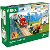 BRIO World - 33773 Railway Starter Set | 26 Piece Toy Train with Accessories and Wooden Tracks for Kids Age 3 and Up,Green