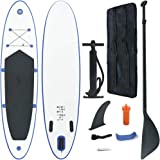 vidaXL Stand Up Paddle Board Set SUP Surfboard Inflatable Red and White/Blue and White