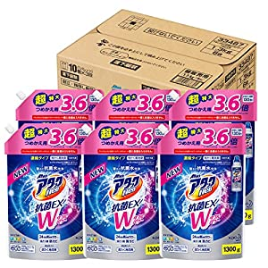 【ケース販売】アタックNeo 抗菌EX Wパワー 洗濯洗剤 濃縮液体 詰替用 大容量 1300g×6個