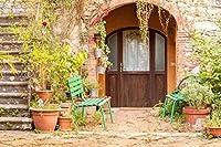 5x7ft(1.5X2.2メートル)写真撮影用背景布 家の庭背景 写真撮影用背景布D-4707