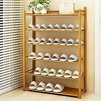 靴ラック竹マルチレイヤーシンプルな家庭用アセンブリ靴箱ストレージラックモダンシンプルな棚 (色 : 6layer, サイズ さいず : 70cm)