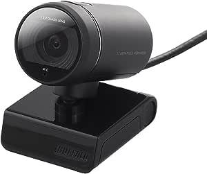 iBUFFALO マイク内蔵320万画素WEBカメラ F2.2ガラスレンズ搭載モデル ブ ラック BSW32KM03BK