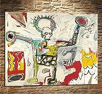 木枠貼り付け加工済み 海外限定 ジャン=ミシェル・バスキア Jean-Michel Basquiat 大型サイズあり キャンバス ポスター 美術品 絵画 (60x80cm)