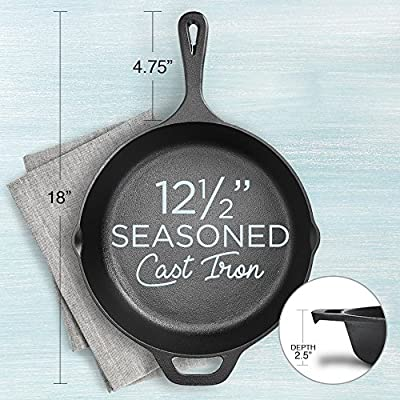 Fresh Australian Kitchen Pre-Seasoned Cast Iron Frying Pan 30cm.