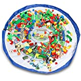 EZY Tidy Bag - Town Map Toy Storage Organiser and Play Mat - Perfect for Legos, Matchbox Cars, Action Figures and more- 152cm