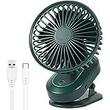 【自動首振り&超静音】 扇風機 卓上扇風機 クリップ 扇風機 小型 充電式 usb扇風機 クリップ ミニ扇風機 超強風 風量3段階調節 長時間連続使用