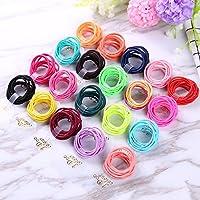 Sufermoe 200 Pcs Baby Elastic Hair Ties Multi Colors Mini Hair Holders Baby Girls kids Elastic Rubber Bands