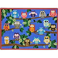 Joy Carpets Kid Essentials Early Childhood It's A Hoot Rug Multicolored 7'8 x 10'9 [並行輸入品]