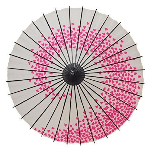 [해외]우산 종이 우산 어린이 용 우산 ?渦 흰색 분홍색 하나 무늬 춤 우산/Japanese umbrella for umbrella umbrella for children Children cherry blossoms blank blank edges dance umbrella