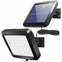 ソーラーライト 屋外 56LED センサーライト モーションディテクタ 超高輝度 屋外照明 防犯ライト IP65防水 屋…