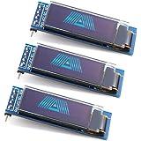 WayinTop 3PCS 0.91 inch OLED Display Module IIC SSD1306 128x32 OLED Screen Driver DC 3.3V~5V for Arduino ESP32 ESP8266 AVR PI