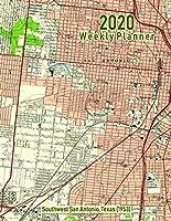 2020 Weekly Planner: Southwest San Antonio, Texas (1953): Vintage Topo Map Cover