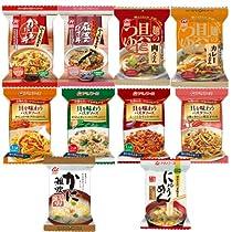 アマノフーズ フリーズドライ オリジナル 10食セット ( にゅうめん 1種 ・ うどん つゆ 2種 ・ どんぶり 2種 ・ 雑炊 1種 ・ パスタソース 4種 )
