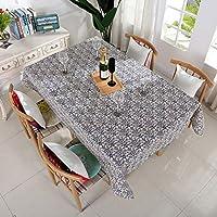 綿とリネンのテーブルクロス防水オイルプルーフ装飾テーブルクロスの世帯一緒にダイニングテーブルの滑り止めのテーブルリネン (Size : 60*60cm)