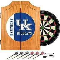 商標Gameroom大学のケンタッキー州木製Dart Cabinetセット–テキスト
