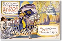 Woman Suffrage Procession Washington DC March 3 1913 – 新しいヴィンテージポスター