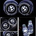 車用 LED ドリンクホルダー レインボーコースター 車載 ロゴ ディスプレイライト LEDカーカップホルダー マットパッド (BMW)