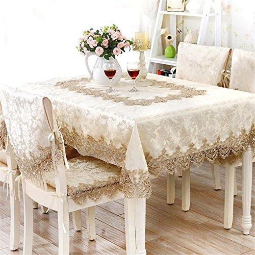 TaiXiuHome 結婚式やパーティーのために ロマンチック 欧風 エレガント レース 刺繍模様 テーブルクロス 正方形 約 110x110cm