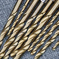 13ピース/ロットhss高速度鋼チタンコーティングされたドリルビットセット1/4六角シャンク1.5?6.5ミリメートル