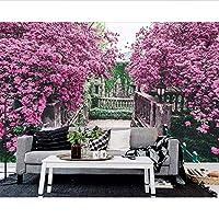 Wuyyii カスタム壁紙家の装飾壁画ヨーロッパの庭テレビの背景の壁ヨーロッパのソファーの背景の壁3Dの壁紙-400X280Cm