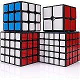 Findbetter スピードキューブ セット 競技用 2x2 3x3x3 4x4x4 5x5x5 四個セット ギフト包…