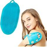 (1st generation, Blue) - INNERNEED Soft Silicone Body Brush Body Wash Bath Shower Glove Exfoliating Skin SPA Massage Scrubber