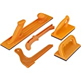 POWERTEC 71009 Safety Push Block and Stick Set | 5 Pack | Ergonomic Handles with Max Grip | Push blocks and Sticks for Table