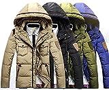 防寒 ホワイトダック ダウンジャケット 4色 メンズ レディース 通勤 通学 アウトドア 大きいサイズあり (L, Aカーキ) [並行輸入品]