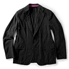 Sage de Cret Salt Shrunk Hard Twisted Cotton Jacket: Black