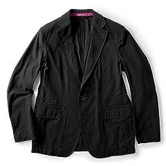 Sage de Cret Salt Shrunk Hard Twisted Cotton Jacket: Black