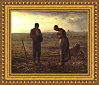 (v08–30–31) jean-francois Millet The Angelus_フレーム_キャンバス_ Giclee_プリント_ w26.5_ X h22 >[Small] #01-Gold V08-30A-MD101-04
