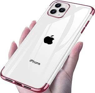 iPhone 11 Pro Max ケース 背面 クリア メッキ加工 耐衝撃 超薄型 超軽量 ソフトTPU 黄変防止 防塵 指紋防止 6.5インチ 一体型 人気 取り出し易いケース