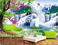 Lwcxカスタム壁画3dフォト壁紙Mountain Waterfall湖ホーム装飾絵画3d壁壁画3d壁紙 FEAF579907