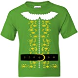 fresh tees Kids Elf Costume T Shirt Santa Christmas Holiday Shirt