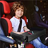 Kids' Lap Travel Tray with Car Back Seat Organizer and Insulated Cooler Bag Inspire Active Toddler & Big Kids w/Coloring,Read