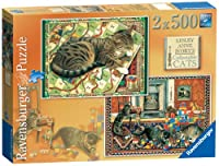 Ravensburger Cats at Play Jigsaw Puzzles (Pack of 2, 500 Pieces Each)