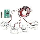 ロードセルキット ハーフブリッジひずみゲージ HX711モジュール+ 4個の 50Kg 計量ロードセル 計量センサー