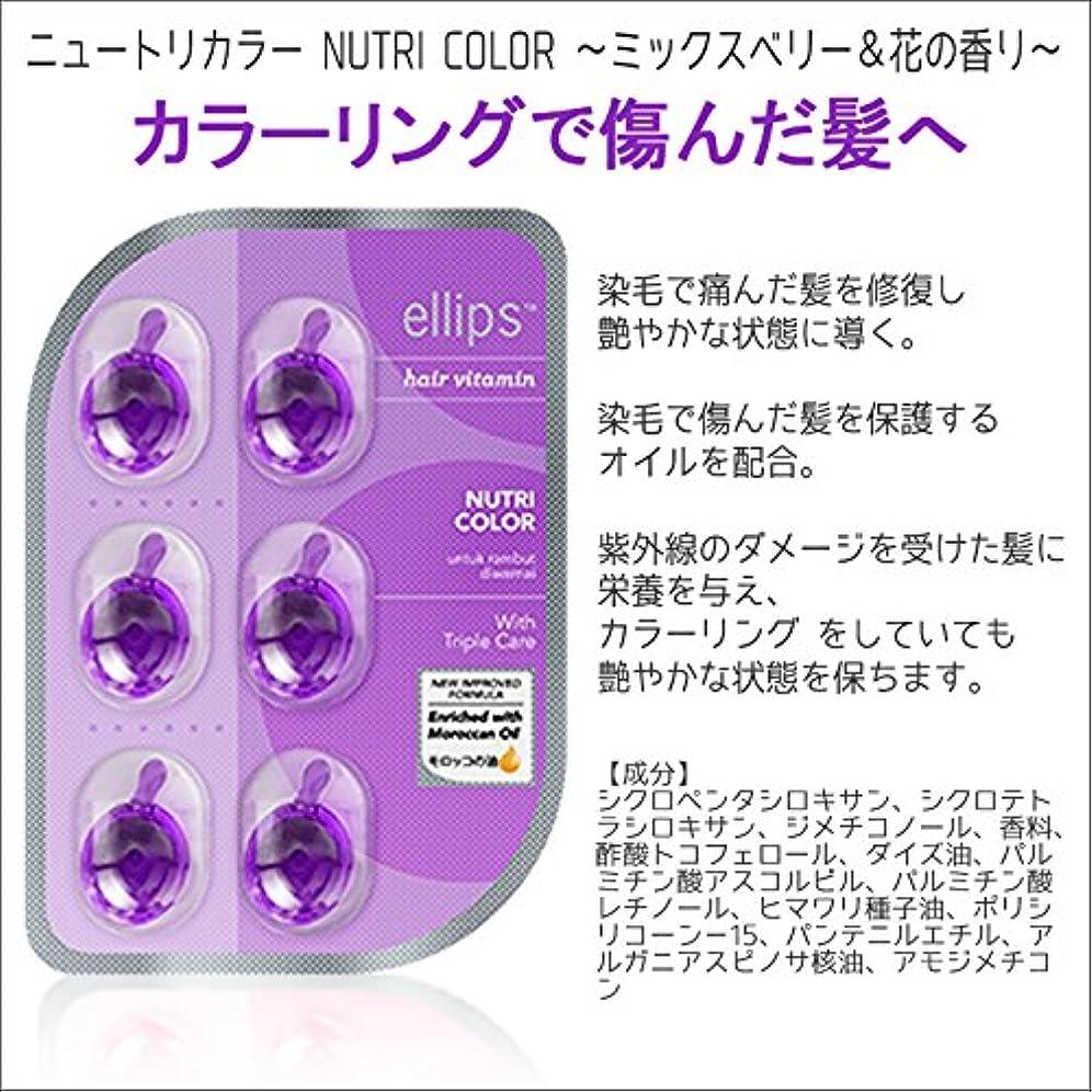 切手行列好色なellips Nutri Color (シートタイプ) クリアパープル