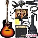 S.Yairi ヤイリ アコースティックギター エレアコ YE-5M/3TS サクラ楽器オリジナル PW入門セット[Planet Waves小物セット]