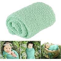 Tinksky Long Ripple Wrap DIY Newborn Baby Photography Wrap-BAby Photo Props (Mint Green) [並行輸入品]