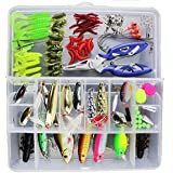 Isafish Fishing Tools Kit Combo 128 Pieces/Set 20 Types Lure Fishing Tackle Box