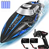 Remote-Control-Boat for Pools & Lakes,Udi001 Venom Fast RC Boat for Kids & Adults,Self Righting Remote Controlled Boat W/Extr