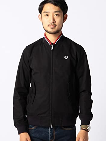 Fred Perry x Beams Bomber Jacket 11-18-2366-060: Navy