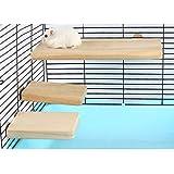 Gifty チンチラステージ 3個入り 小動物 木製 ステップ ステージ デグー シマリス モモンガ チンチラ 飼育ケー…