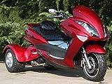 IceBear(アイスベアー) トライク 200cc 三輪バイク 大型スクータートライク ワインレッド HL200XR