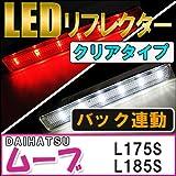 ムーヴ/ムーヴカスタム 【L175S/185S】DAIHATSU  LEDリフレクター 【クリアレンズ】 左右2個セット 【ダイハツ MOVE】